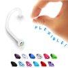 nostril piercing ring aus Kunststoffmit Glitzer