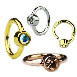 Segment Clicker mit Glitzer in Silber und Gold
