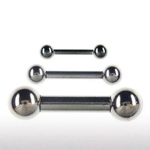 Piercing Stecker 4mm Schwarz Intimpiercing