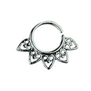 Silber Septum Ornament Piercing Ring