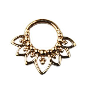 1,2mm Septum Clicker mit Ornament Rand Segment Ring...