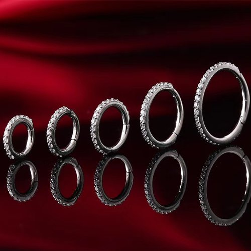 Segment Clicker Silber mit Glitzer