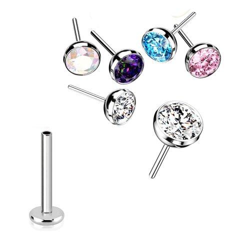 Nasenpiercing Titan Stecker 0,8mm Push Pin stecksystem