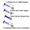 0,8mm Titan Micro Labret Stecksystem mit Kristall