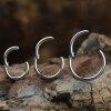 1,0mm Titan Segment Ring mit Scharnier Clicker