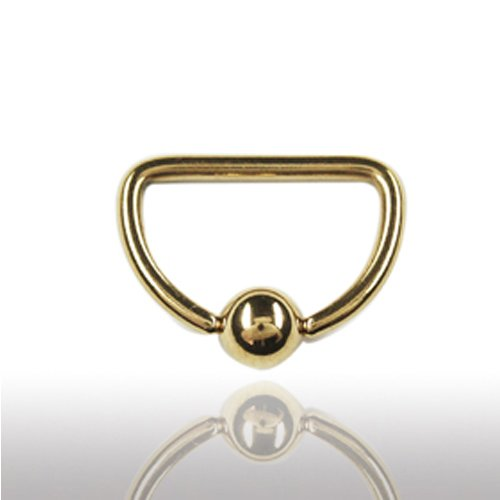 Ohrpiercing D-Ring Gold 1,2mm