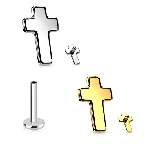 Labret Innengewinde Titan Kreuz Aufsatz