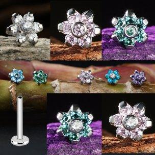 Titan Labret Mini Kristall Blume