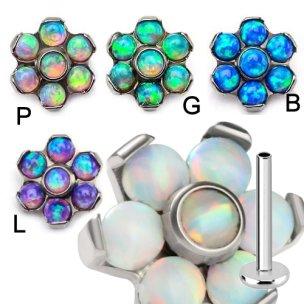 Titan Labret kleine Opal Stein Blume