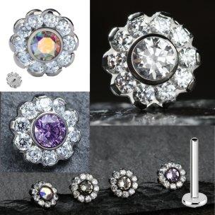 Titan Labret glitze Kristall Blume