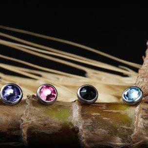 Titan Labret Innengwinde flache Kristall