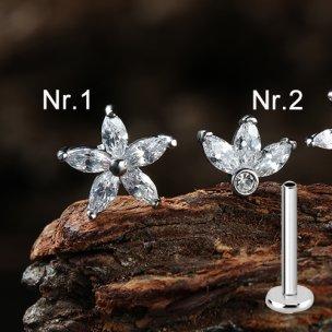 Helix Tragus stecker Kristall Blume