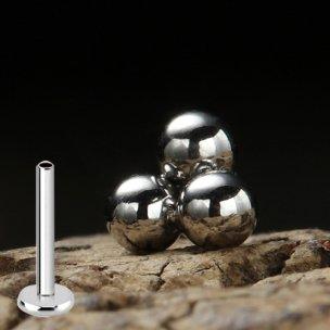 3er Kugeln Dreieck Silber Micro Labret Ohr Lippen...