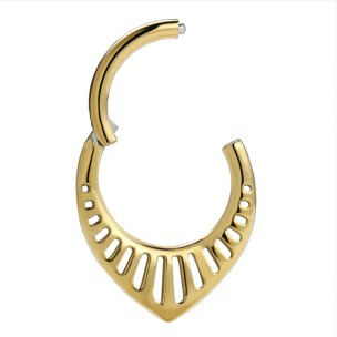 Septum Clicker Aztek Boho Ornament in Gold, Rosegold und...