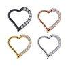 1,2mm Herz Ohr Clicker Ring mit Kristallen
