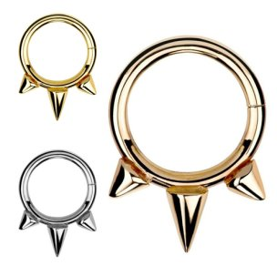 Septum Clicker Ring Boho Ethno Rand Gold Rosegold