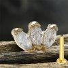 Gold Rosegold glitzer Helix Conch Stecker Labret 3er Kristall Blüte