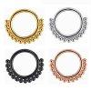 Septum Clicker Ring Kugeln Gold Rosegold und Silber