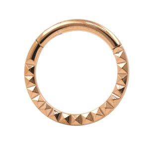 Septum Nasenpiercing Clicker Ring Diamant Schliff Kerben