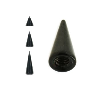 Schwarze Piercing Spitze Spike