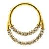 1,2mm 2 Kristall Bogen Segment Clicker Ring