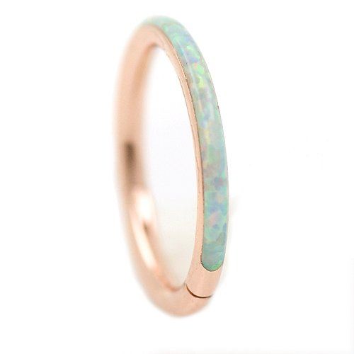 1,2mm Clicker Ring Opal Rand