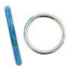 Segmentring Clicker Opal Rand Blau
