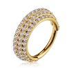 1,2mm 3 versetzten Kristall Reihen Segment Clicker Ring