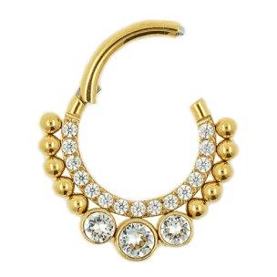 Septum Clicker Ring Boho Ethno Rand Gold Rosegold vielen...