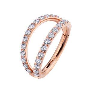 1,2mm Segment Clicker 2 Ringe viele Kristalle