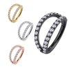 2 Ringe mit Kristall Clicker Ohr Helix Piercing