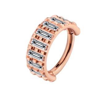 1,2mm Piercing Clicker breite Kristalle am Rand