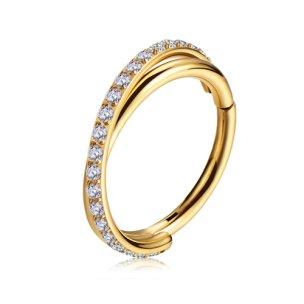 X-Ringe Clicker Kristalle Ohr Helix Piercing