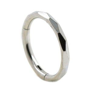 1,2mm Clicker Ring Kerben Schliff