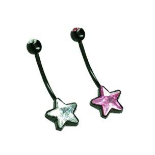 Stern Bauchnabel Piercing für Schwangerschaft