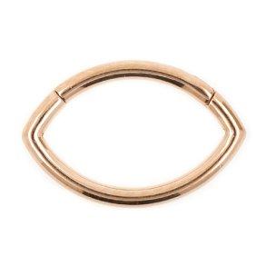 ovaler septum ohr piercing Clicker Ring