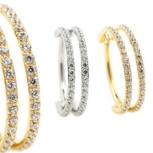 1,2mm Segment Clicker 2 Ringe Parallel viele Kristalle