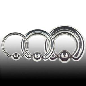 Intimpiercing Mann 6mm Ohr Piercing Ring