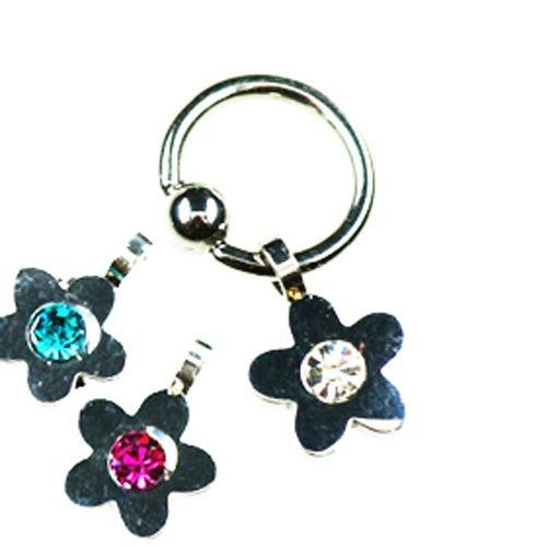 Ohr Piercing Ring mit Blume Anhänger