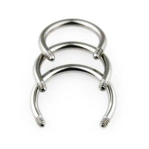 Stahl Circularbarbell Piercing Hufeisen Ersatz