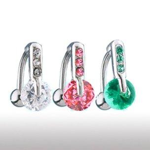 Bauchnabel Piercing mit vielen Kristallen