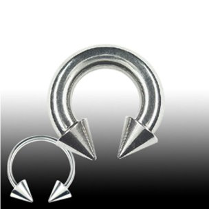 Brustpiercing Ring mit 2 Spitzen Septum Piercing