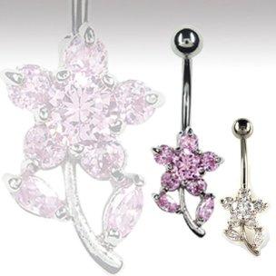 Stern Blume Bauchnabel Piercing Schmuck