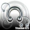 Hufeisen Piercing Titan 4mm als intimpiercing mann