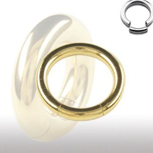 1,2mm Gold Smooth Segment Ring