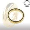 Segmentring Gold 1,2mm Ohr Ring Helix Piercing