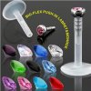 Madonna piercing Labret mit Glitzer Kunststoff