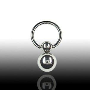 Intimpiercing Ring Titan mit doppelkugel ohrringe