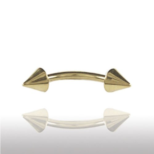 Bridge Piercing Gold Bananebell mit Spitzen