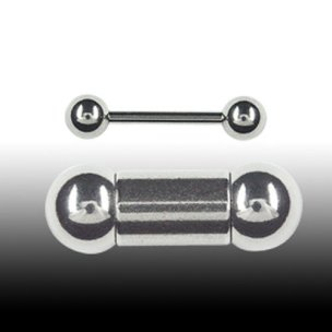 1,6mm Piercing Industrial Stab Barbell 20-50mm